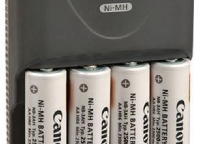 Canon CBK4-300 AA Battery x8 and Charger x2 Kit - 1