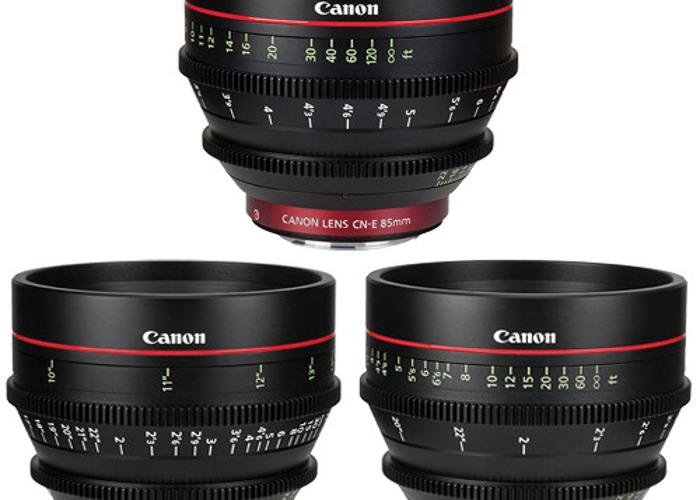 Canon cine primes 24mm 50mm 85mm lenses - 1