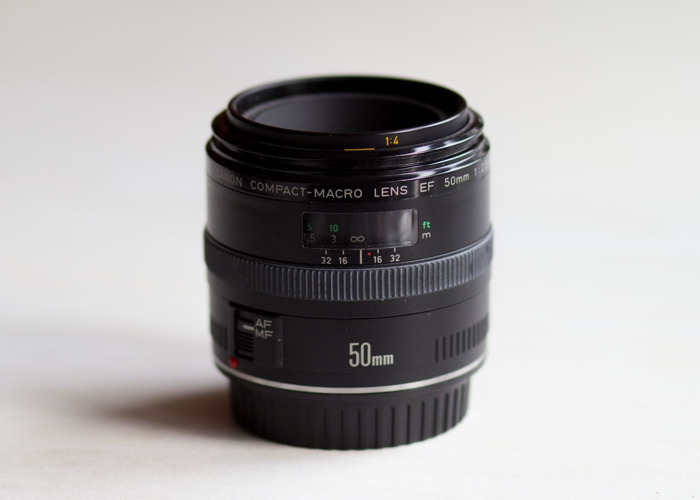 Canon Compact Macro EF 50mm F/2.5 Lens - 1