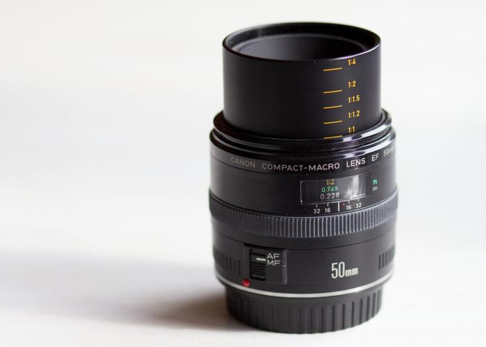 Canon Compact Macro EF 50mm F/2.5 Lens - 2