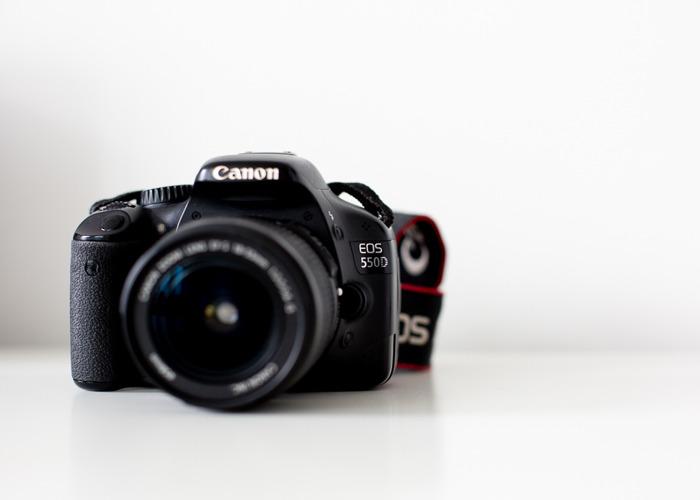 Canon DSLR - 550D + Canon 18-55mm lens  - 2