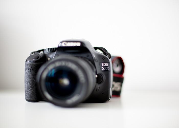 Canon DSLR - 550D + Canon 18-55mm lens  - 1
