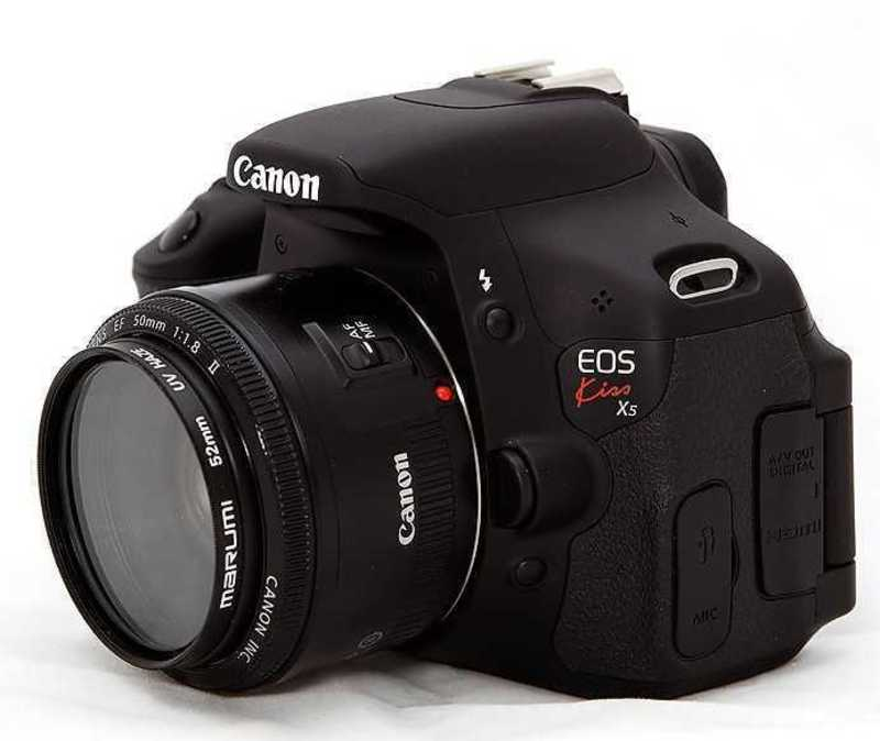 Canon DSLR 600d / Kiss x5 inc 2 lens (50mm 1.8 & 24mm 2.8) - 1
