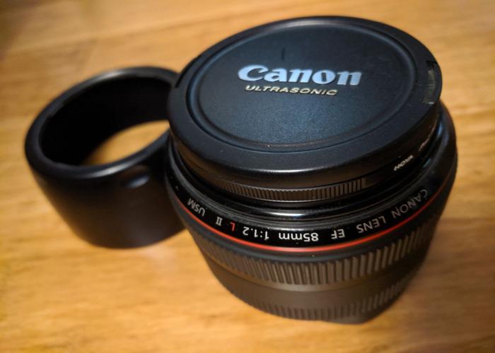Canon DSLR Camera  85MM F1.2L LENS - 1
