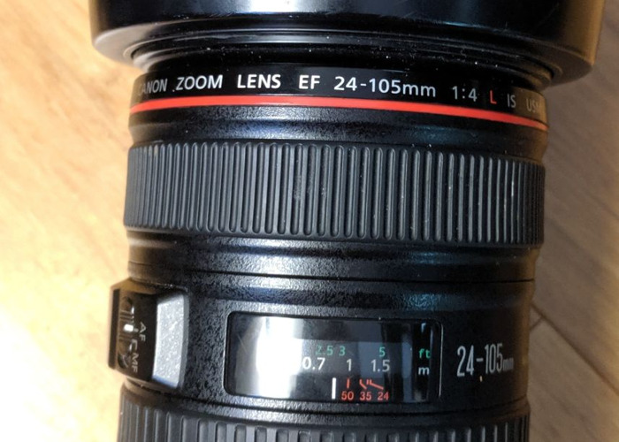 Canon DSLR Camera 24mm to 105mm 24-105 F4 IS Lens - 1