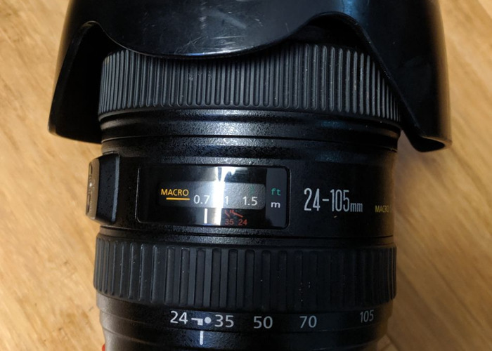 Canon DSLR Camera 24mm to 105mm 24-105 F4 IS Lens - 2
