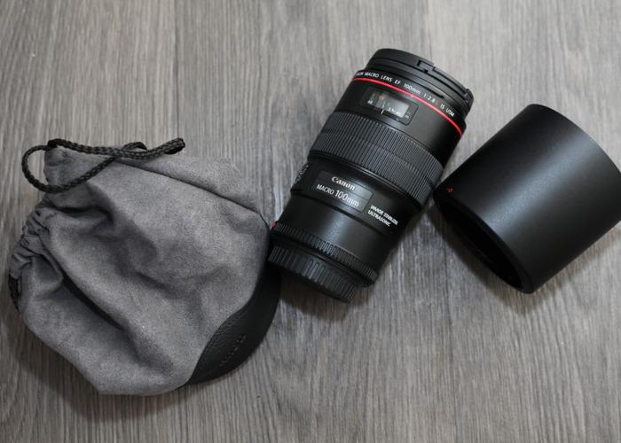 Canon EF 100mm f/2.8L Macro IS USM + Hoya Filter - 1