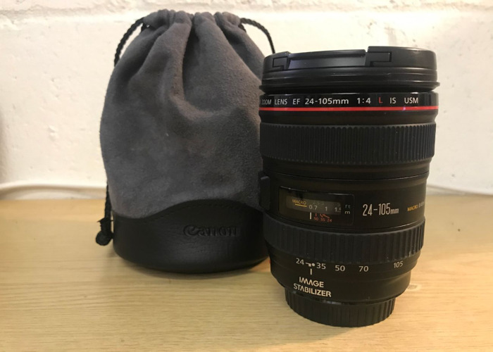 Includes: Canon L-series 24-105mm F/4 L IS USM - 1