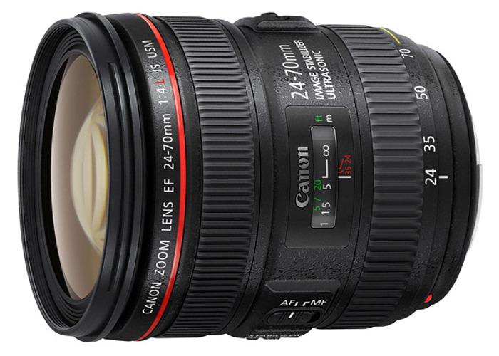 Canon EF 24-70 mm f/4L IS USM lens, - 1