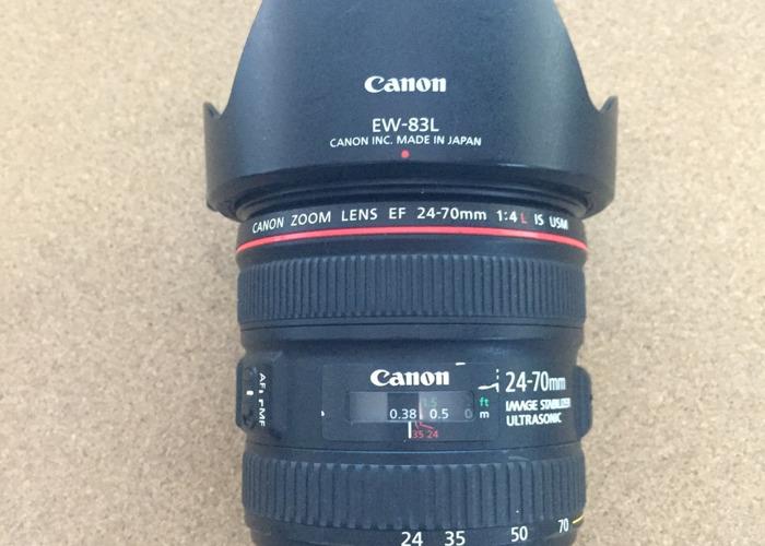Canon EF 24-70mm 1:4 L IS USM (EW-83L) Lens - 1