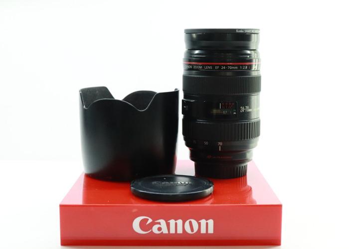 Canon EF 24-70mm F/2.8 L USM Full Frame Pro Mid Range Zoom Lens -BB- - 1