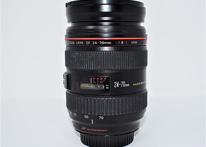 Canon EF 24-70mm f/2.8L USM + bag + hood - 1