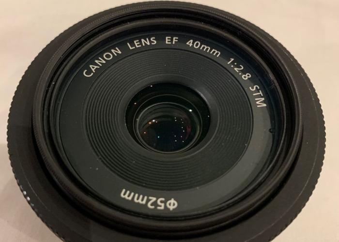 Canon EF 40mm f/2.8 STM Pancake Prime Lens with UV filter - 1