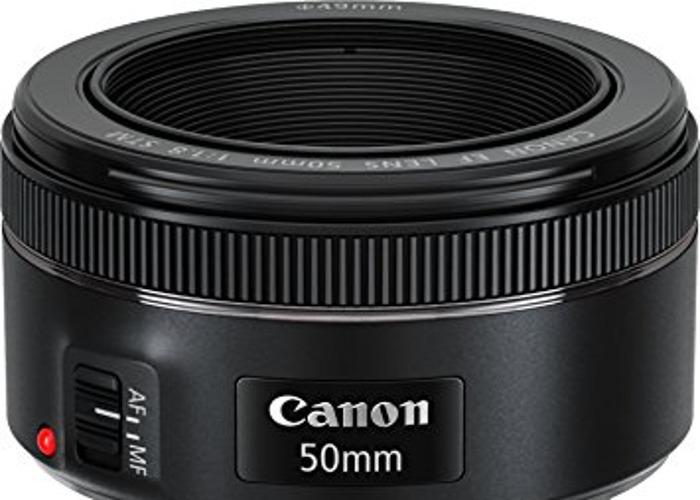 Canon EF 50 mm 1.8 STM Lens - 1