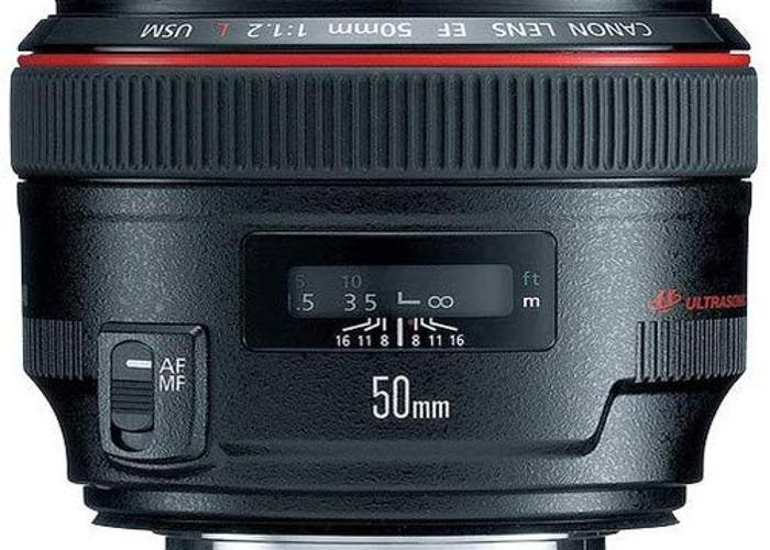 Canon EF 50 mm f/1.2L USM Lens, Black - 1