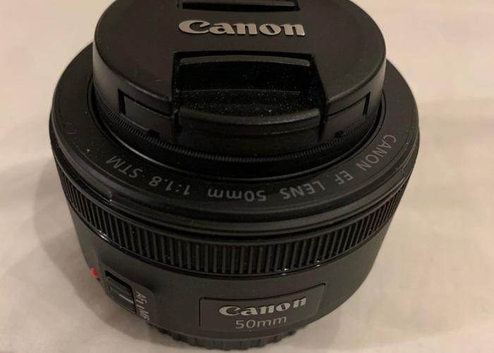 Canon EF 50mm f/1.8 STM Prime Lens with ES-68 Lens Hood & UV - 2