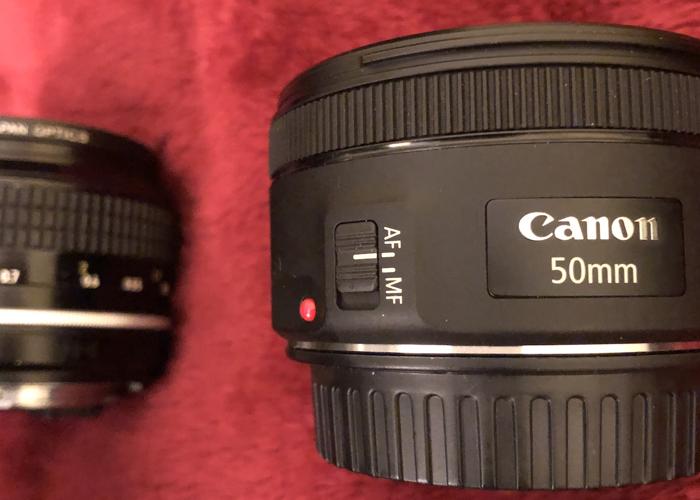 Canon EF lens 50mm f1.8 - 1