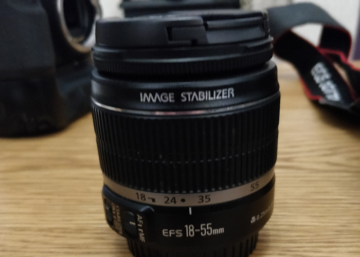 Canon EF-S 18-55mm Camera Lens f/3.5 - 5.6  III 58mm DSLR - 1