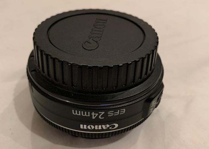 Canon EF-S 24mm f/2.8 STM Pancake Prime Lens with UV Filter - 2