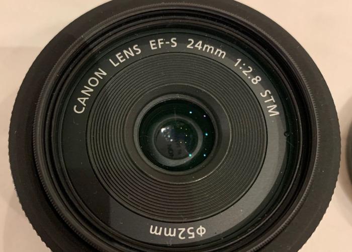 Canon EF-S 24mm f/2.8 STM Pancake Prime Lens with UV Filter - 1