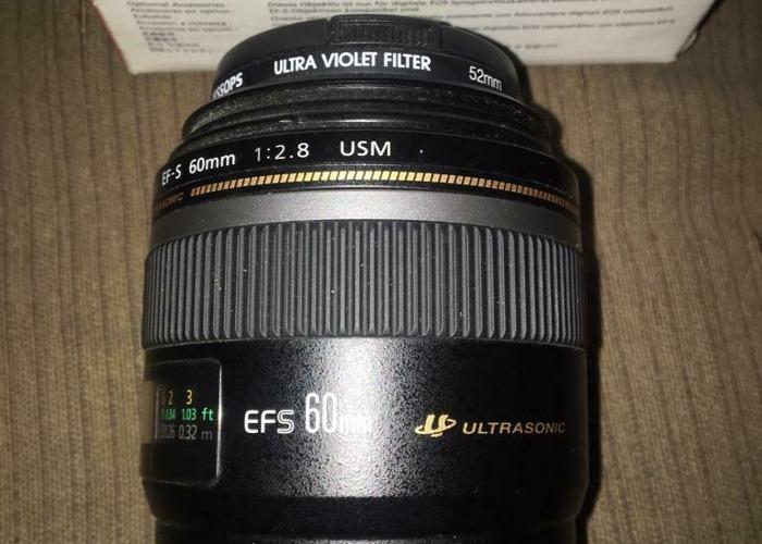 Canon EFS 60mm Macro USM Lens - 2