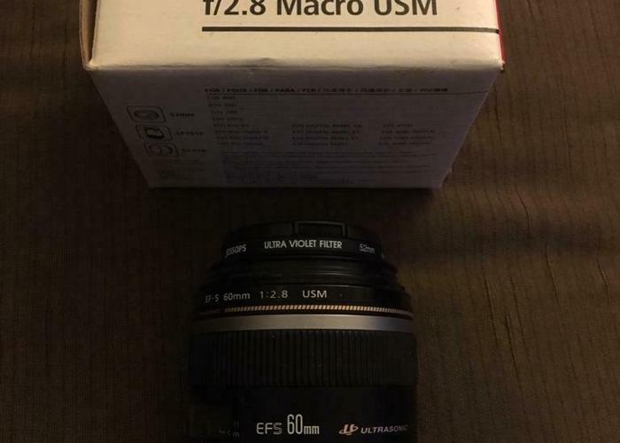 Canon EFS 60mm Macro USM Lens - 1