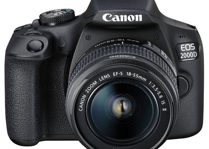Canon EOS 2000D DSLR Camera,  EF-S 18-55 mm f/3.5-5.6 IS III - 2