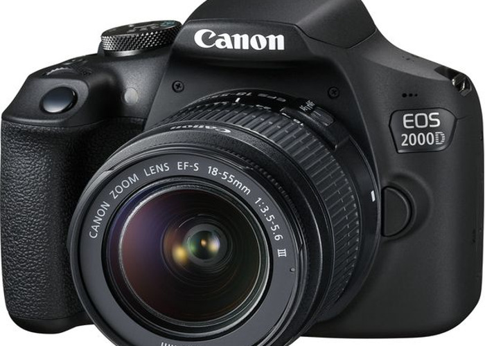 Canon EOS 2000D DSLR Camera,  EF-S 18-55 mm f/3.5-5.6 IS III - 1