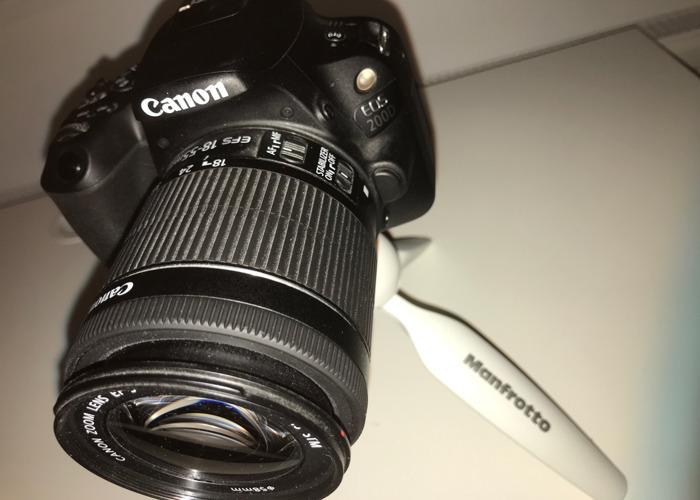 CANON EOS 200D + TRIPOD + BATTERY PACK // CHARGER - 2