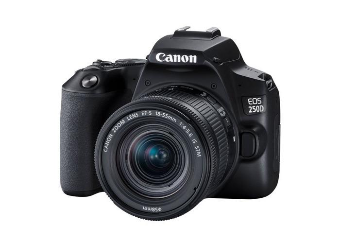 Canon EOS 250D Digital Camera with EF-S 18-55mm f4-5.6 IS STM Lens Kit - Black - 1