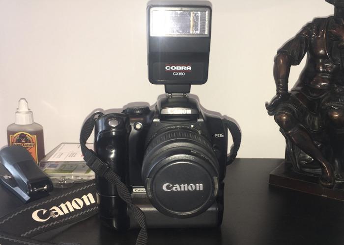 Canon EOS 300D Digital camera and Cobra flash - 1