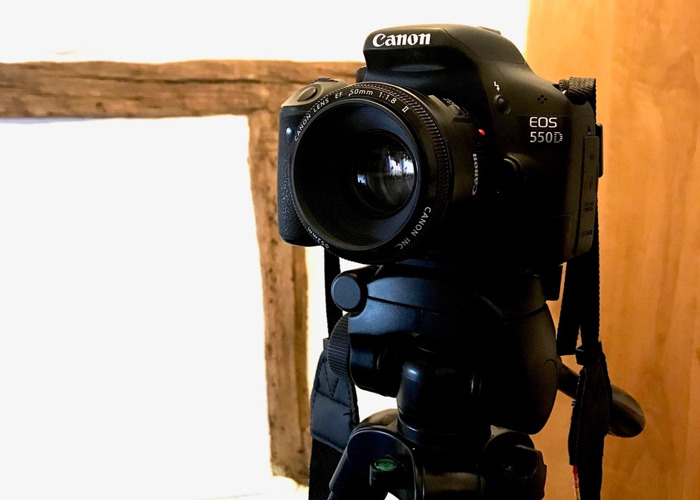Canon EOS 550D w/ 3 Lens 50mm, 24mm, 18-55mm and Tripod  - 2