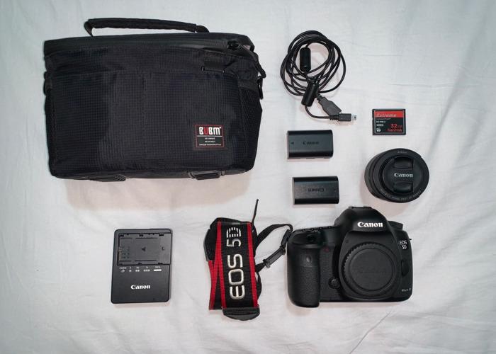 Canon EOS 5D Mark III + Canon 50mm 1.8 Lens + 32GB SanDisk  - 1