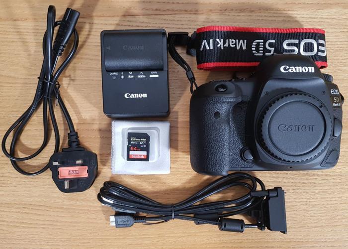 Canon EOS 5D Mark IV DSLR Camera Body +SD card - 1