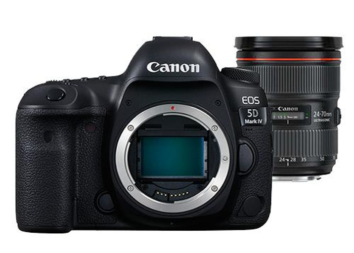Canon EOS 5D Mark IV DSLR Camera with Canon EF 24-70mm f/2.8 - 1