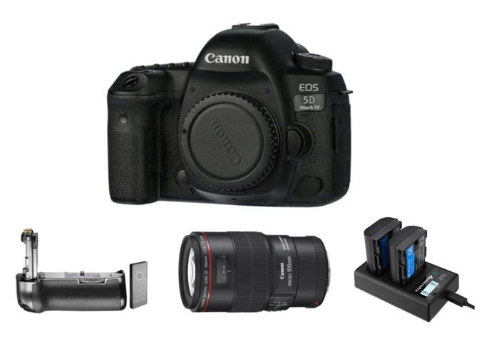 Canon EOS 5D MkIV Camera w/ Canon EF 100 mm Macro f2.8L IS USM Lens | MK4 | Mark 4 - 1