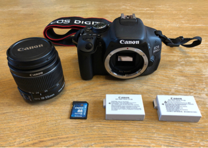 Rent Canon EOS 600D DSLR w/ EFS 18-55mm lens in Watford