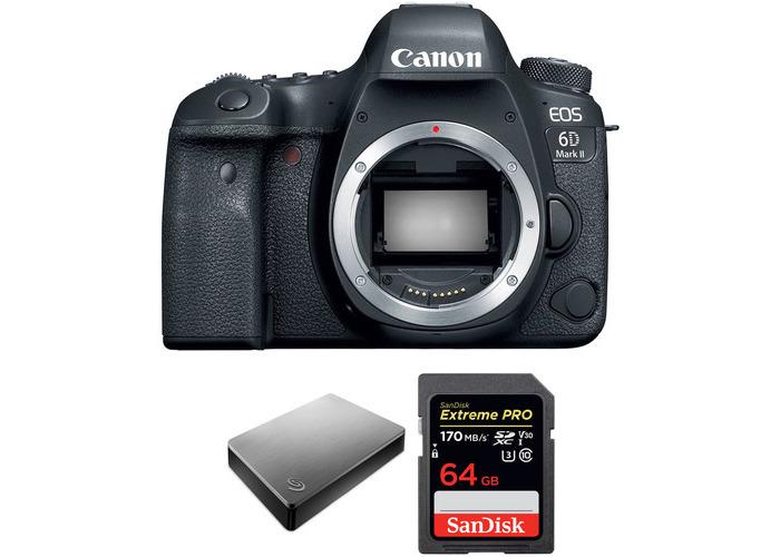 Canon EOS 6D Mark II DSLR Camera Body with Storage Kit - 1