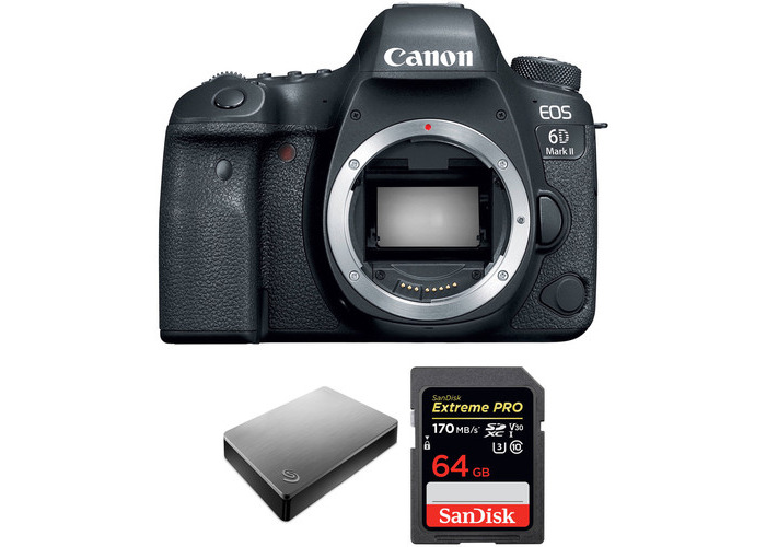 Canon EOS 6D Mark II DSLR Camera Body with Storage Kit - 2