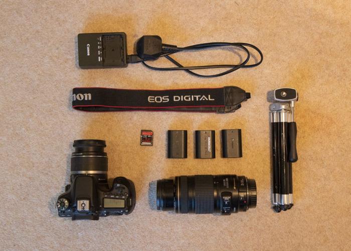 Canon EOS 70D DSLR Camera in Gateshead + Zoom Lens Deal/Kit - 1