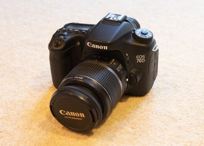 Canon EOS 70D DSLR Camera in Gateshead + Zoom Lens Deal/Kit - 2