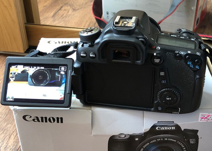 Canon EOS 70D (W)  With 18 to 55mm  Lens - 2