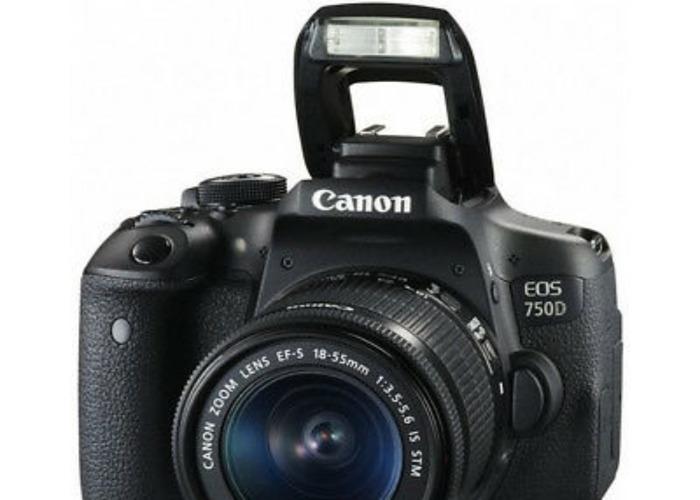 Canon EOS 750D 24.2MP Digital SLR Camera - with lens - 1