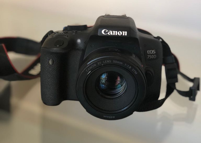 Canon EOS 750d with 50mm Lens (18-55mm Lens also available) - 1