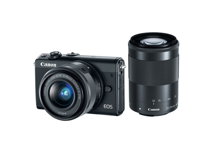 Canon EOS M100 Mirrorless Digital Camera with 15-45mm and 55-200mm Lenses (Black) - 1