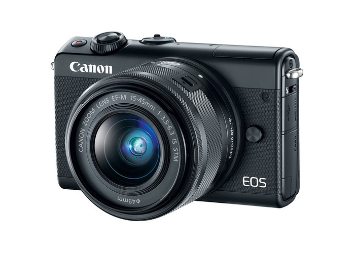 Canon EOS M100 Mirrorless Digital Camera with 15-45mm and 55-200mm Lenses (Black) - 2