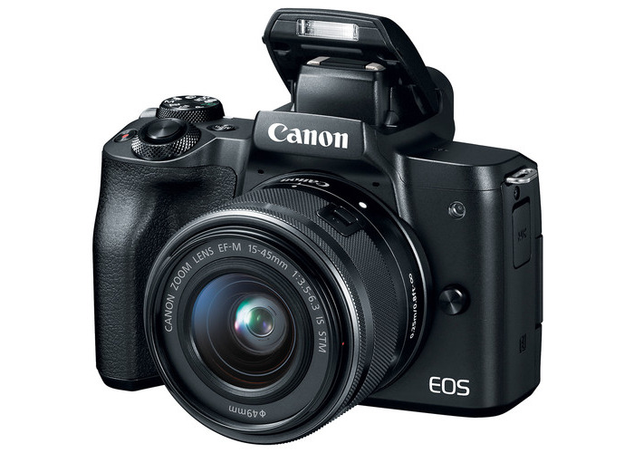 Canon EOS M50 Mirrorless Digital Camera with 15-45mm Lens (Black) - 2