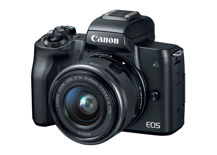 Canon EOS M50 Mirrorless Digital Camera with 15-45mm Lens (Black) - 1