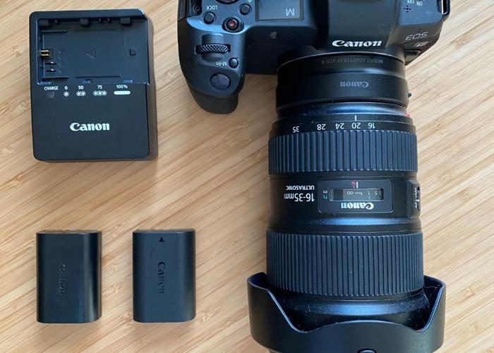 Canon EOS R Camera + 16-35 mm f2.8 EF Lens bundle  - 1
