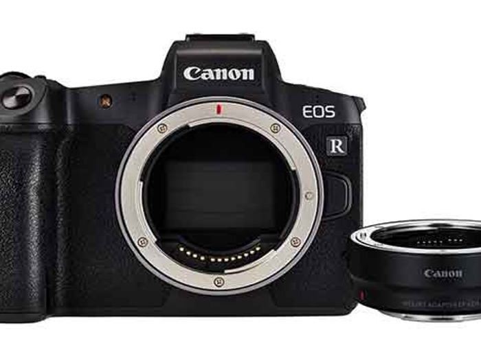 Canon EOS R Mirrorless Body with R Mount Adapter - 1